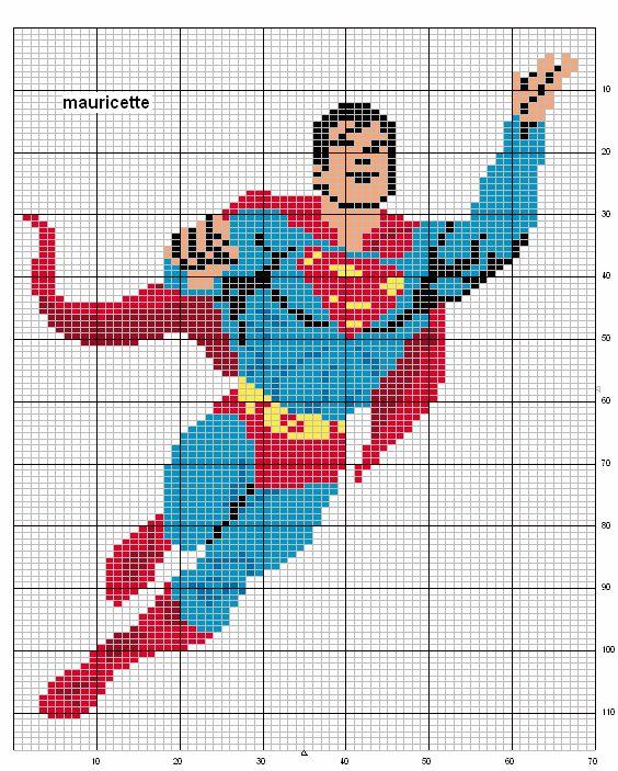 sandylandya@outlook.es  Superman hama perler beads pattern