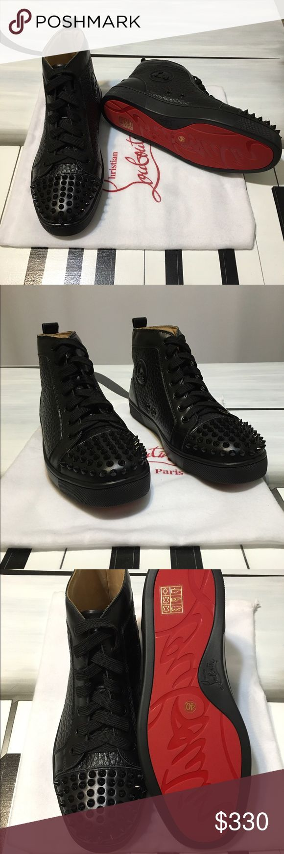 *SOLD* Louboutin Studded Sneakers Louboutin High Top Studded Sneakers. Come with box and dust bag. Christian Louboutin Shoes Sneakers