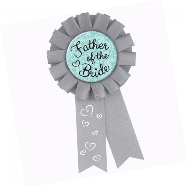 Father of the Bride Hens Party Rosette Badge