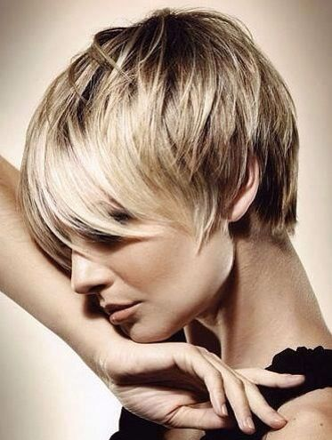 Double cut Pixie with longer detailed personalized fringe