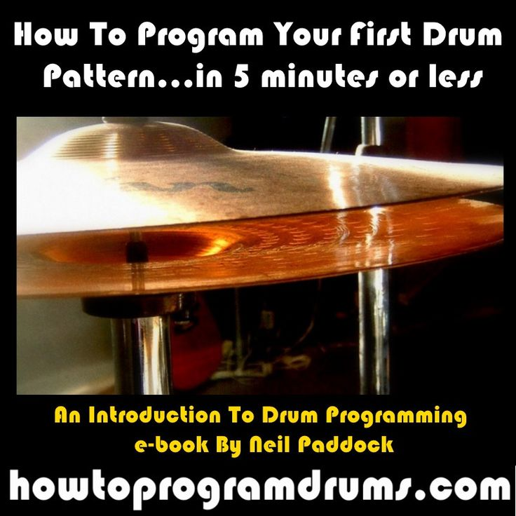 How To Program Your First Drum Pattern (PDF, Kindle, i-Pad) - A$1.00 #onselz