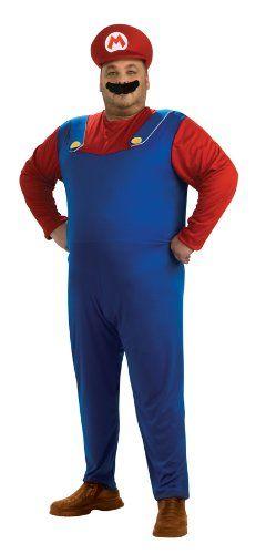 Super Mario Brothers Mario Costume Blue Plus