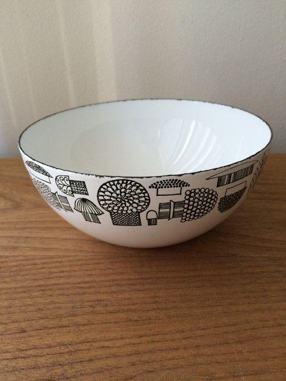 Small Vintage Kaj Franck Enamel Mushroom Bowl