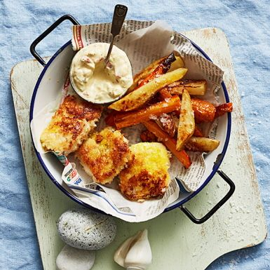 Recept: Fusk-fish'n chips