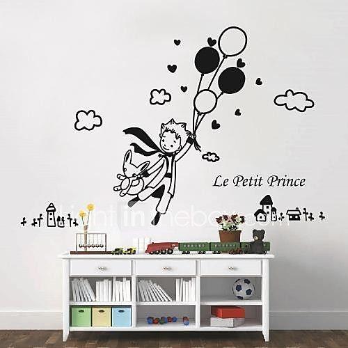 autoadesivi della parete decalcomanie della parete, moderni adesivi murali Il Piccolo Principe e fumetto pvc del 2017 a €11.75