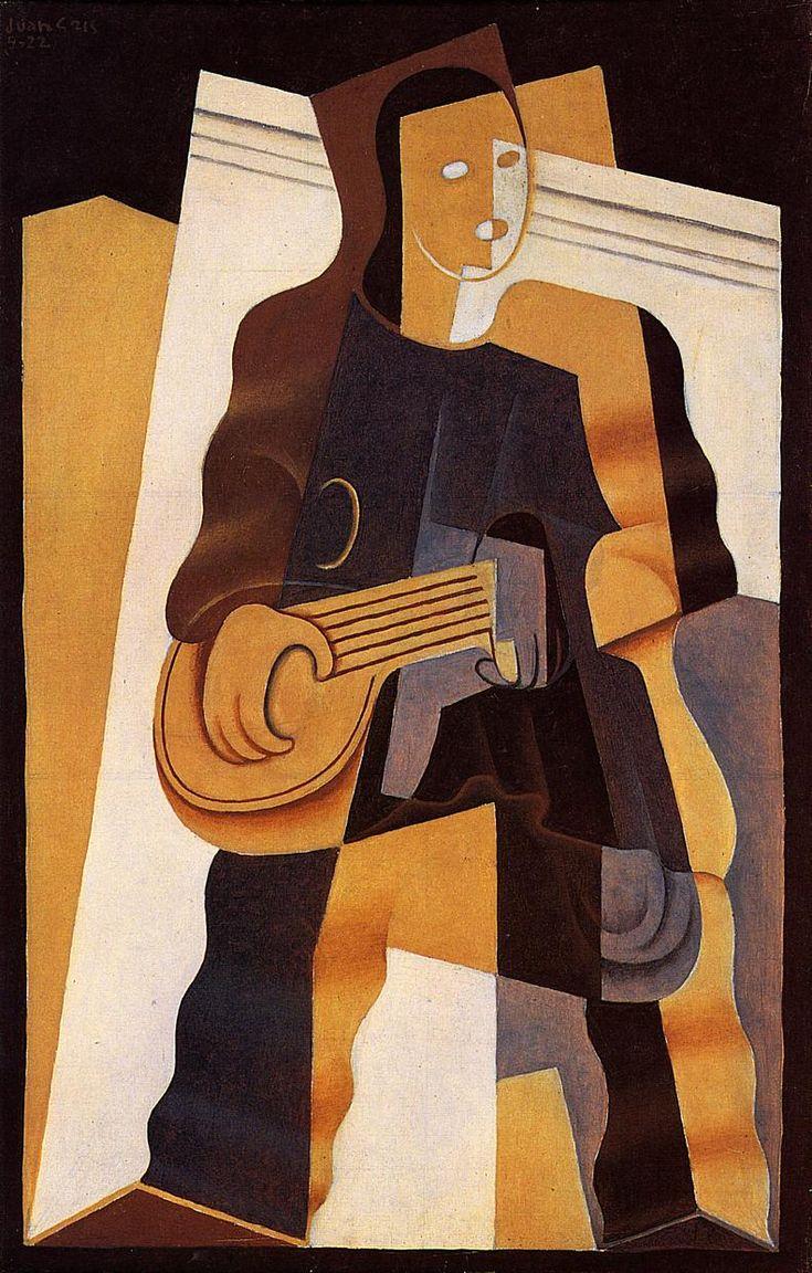 Pierrot 1922 | Juan Gris | Oil Painting #cubism