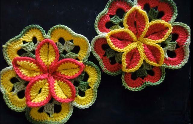 Video Návody. Háčkování květiny - MirTesen