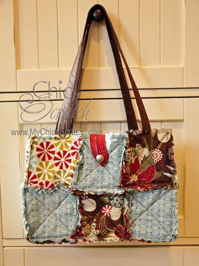 Rag Quilt Purse - I made one like this using the instructions. Easy!