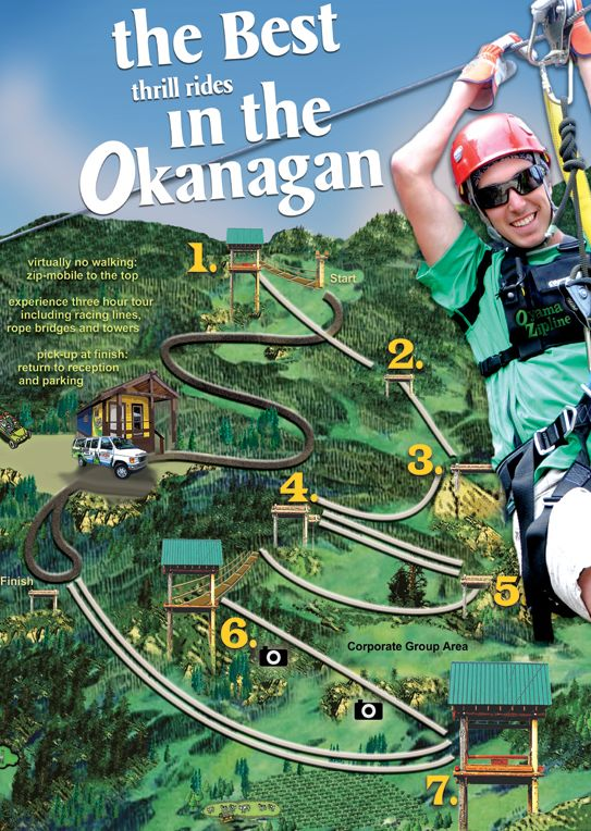 Get out this weekend and enjoy the sun and fun of the Okanagan's fastest zipline in Oyama! With a 3 hour zipline and state of the art safety harnesses you can, do tricks or race on the double racing lanes. As you sore over orchards, vineyards, lakes and alpaca farms enjoy the spectacular scenery! Only 30 minutes from Kelowna.   http://www.oyamazipline.com/