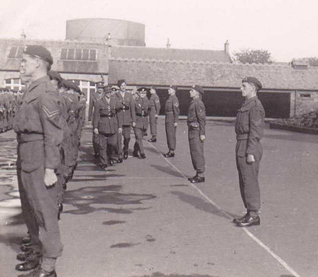 No.4 Commando post Dieppe parade at Barassie Street School, Troon (Lord Lovat can be seen centre tallest)