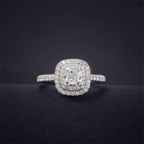 Certified 2.80ct White Round Diamond Engagement Wedding Ring 14K White Gold #Mag…