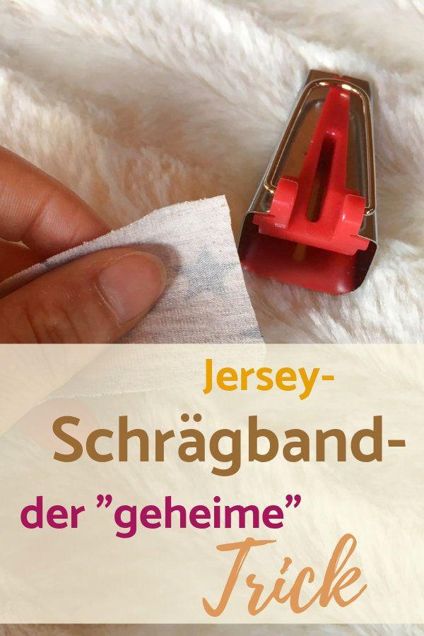 Jersey-Schrägband selbst herstellen – die Anlei…