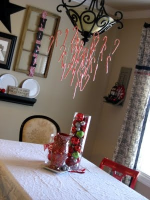 Candy Cane Decor Ideas - http://myblessedlife.net/2009/12/a-candy-cane-christmas.html