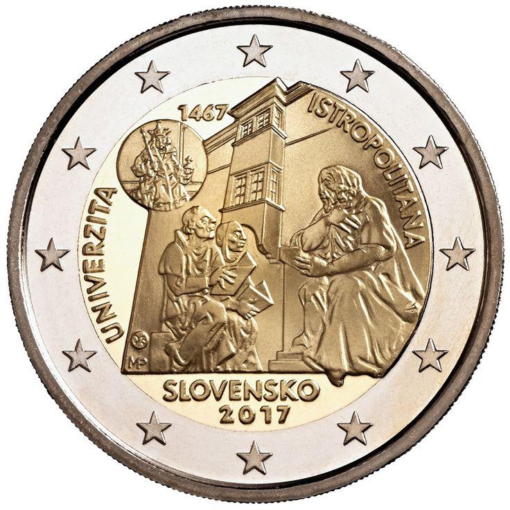 NEO ΠΡΟΙΟΝ 2ευρω 2 Ευρώ, Σλοβακία, 550η επέτειος της ίδρυσης της Academia Istropolitana, 2017