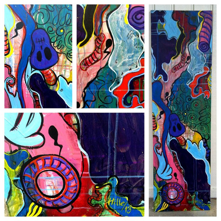 """""""People judge anyway"""" 35x120 cm Just finished this summers first painting!"""