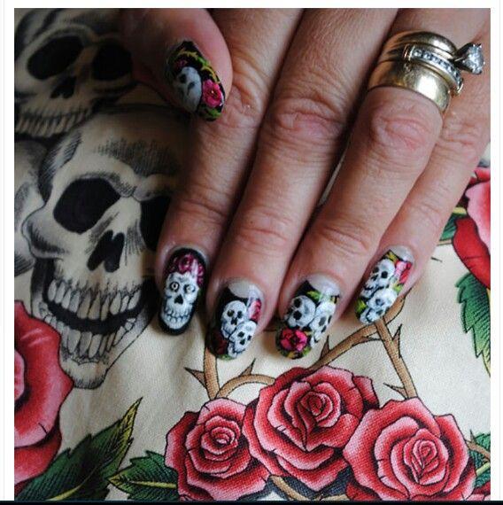 Nail designs skulls images nail art and nail design ideas skull nail designs gallery nail art and nail design ideas nail designs skulls choice image nail prinsesfo Images