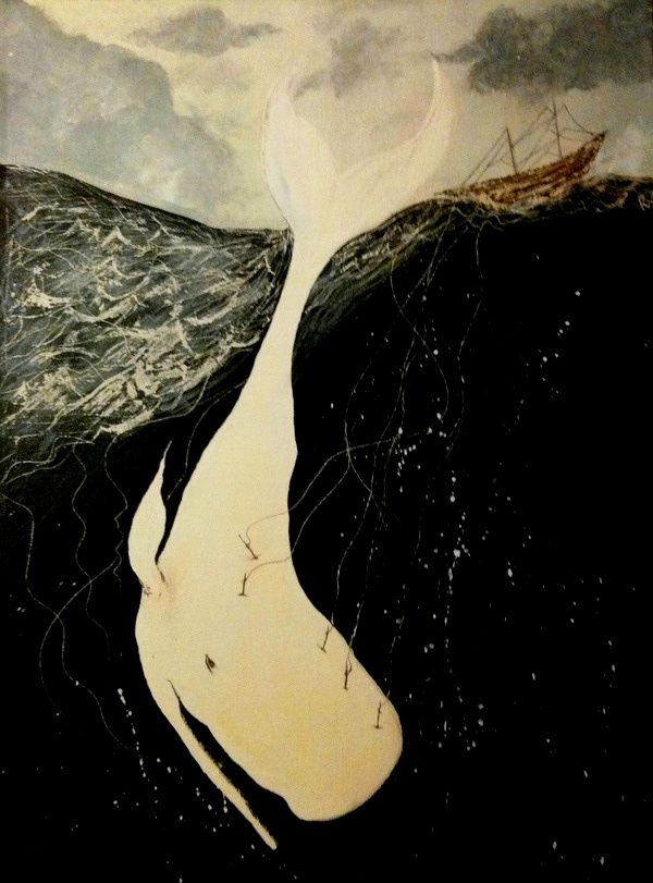 Moby Dick by Rachel Wong  http://society6.com/littlemisswong/Moby-Dick-dH