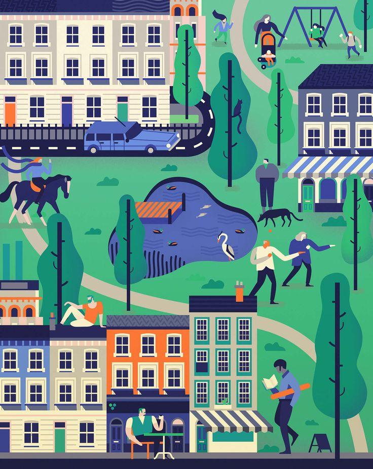 London Magazine - Owen Davey Illustration