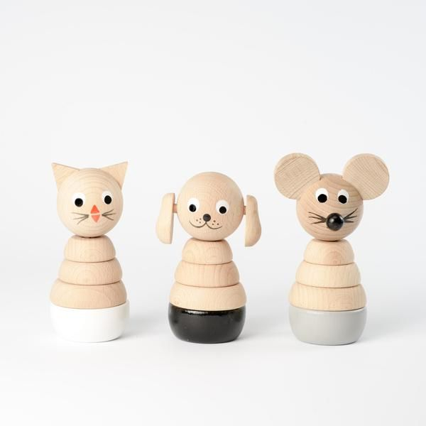 Set Of 3 Stacking Toys - Monochrome — sarah & bendrix