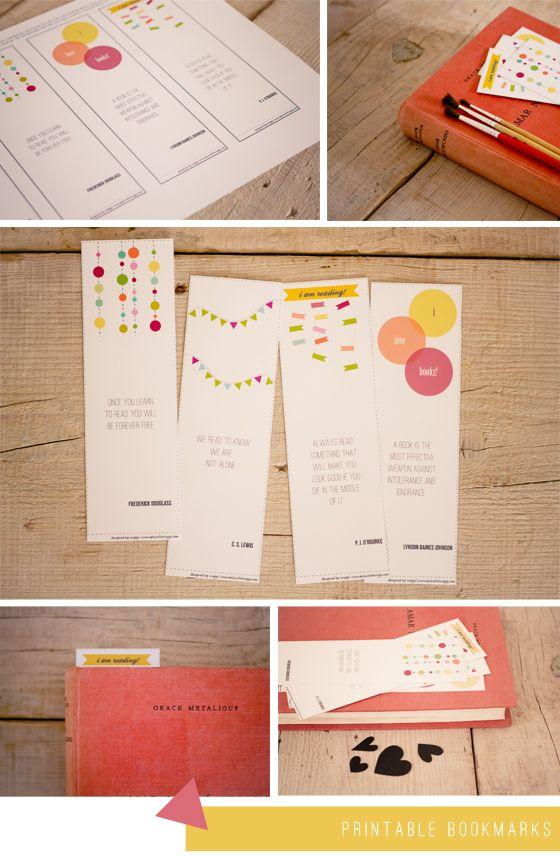 Free printable bookmarks!