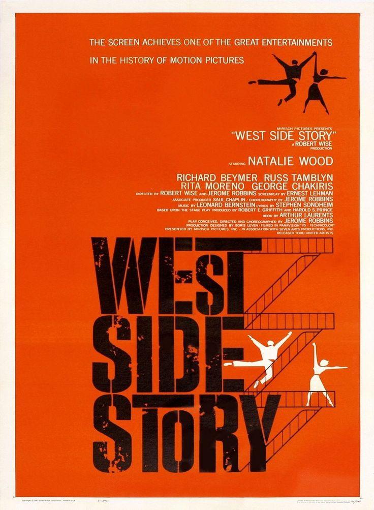 West Side Story est un film réalisé par Robert Wise et Jerome Robbins en 1960. Dans le West Side, bas quartier de New York, deux bandes de jeunes s'affrontent, les Sharks de Bernardo et les Jets de Riff. Un ex des Jets, Tony, s'éprend de Maria, la soeur de Bernardo.