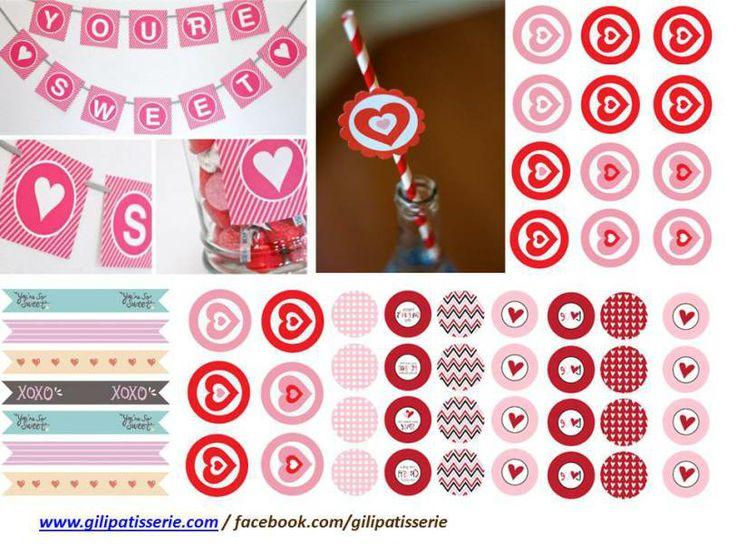 Free printables for Valentine's day! Printables para San Valentin www.gilipatisserie.com