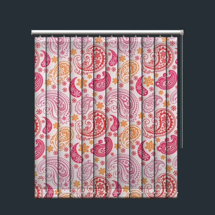 Colourful Paisley Flora Printed Vertical Blind