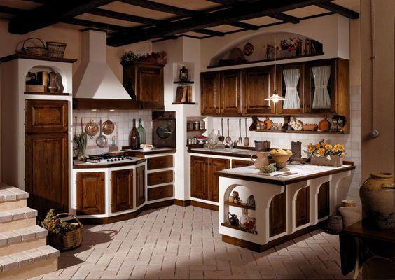 Oltre 25 fantastiche idee su ripiani per cucina su - Cucina muratura rustica ...