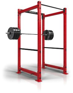 The Rogue RML-490C is essentially the same power rack as the Rogue R-4, with the only difference being that the RML-490C comes with a 3″ x 3″ frame and is thus heavier and more sturdy. That's not to say that the R-4 isn't stable, but that the RML-490C brings industrial build quality to the table.