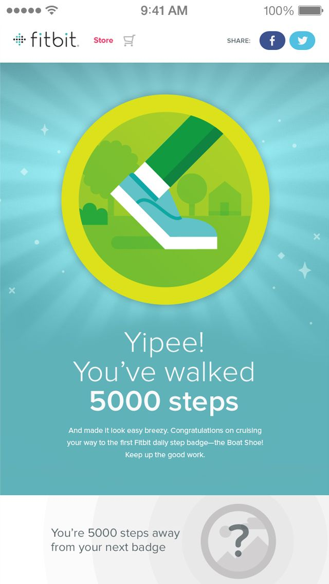 Get goal progress notifications & celebrate fitness milestones with badges…