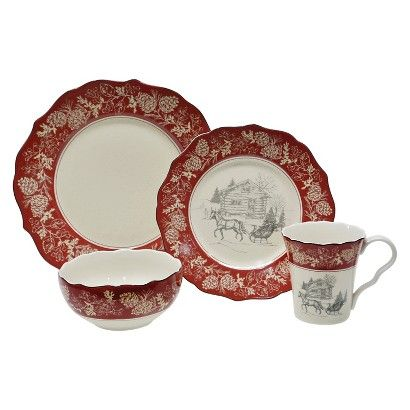 Discount Christmas Dinnerware Sets