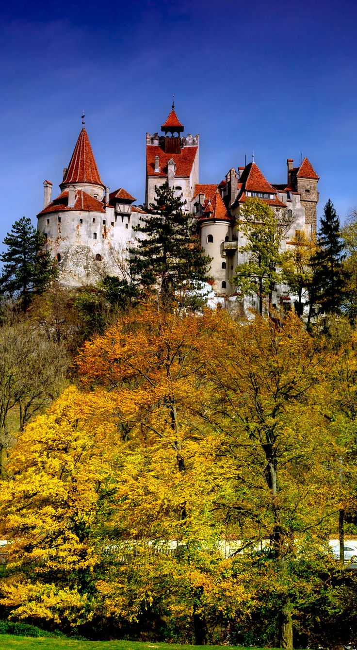 Bran Castle, commonly known as Dracula's Castle, in Romania   |   10 Most Beautiful Castles in Europe  Connect with me at: http://lanekennedy.com/  #traveldestinations #traveling