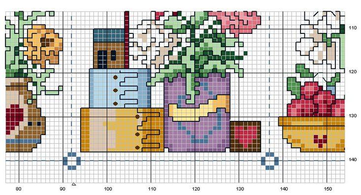 Schema punto croce Quadro Country 7