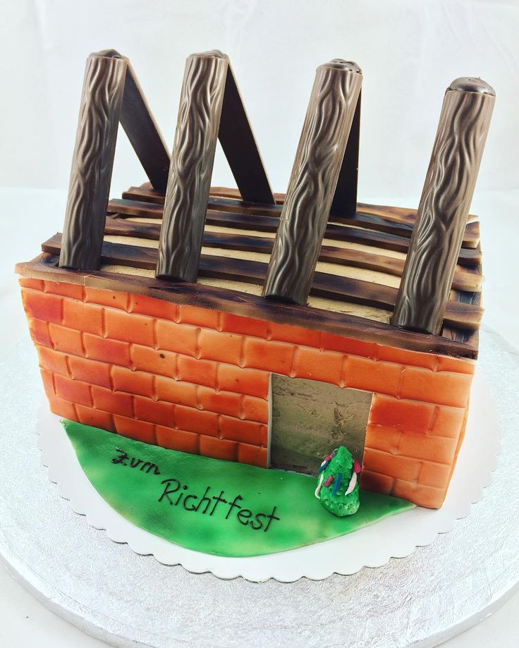 Fondantcake, Fondant, Cake, Torte, backen, Richtfest