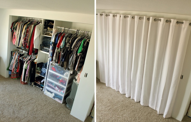 1000 ideas about closet door curtains on pinterest curtain closet door curtains and closet doors. Black Bedroom Furniture Sets. Home Design Ideas
