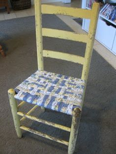 First A Dream: Chair Weaving Tutorial (For repurposing the lawn chairs)