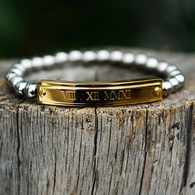 This one with important dates is really nice! Kerry Custom Date – Rustic Cuff