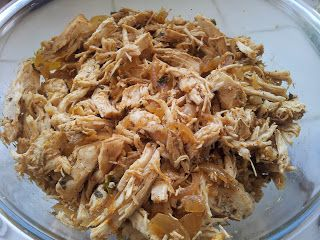 Tex Mex crock pot chicken. Omit the Oil for Phase 2, use chicken broth instead