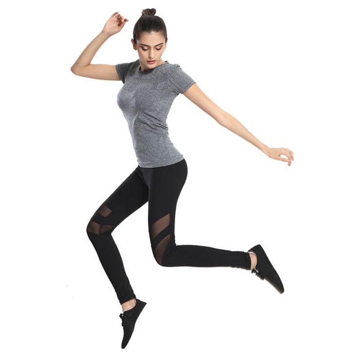 Women Fitness Yoga Sports Leggings Girls Sport Tights Mesh Yoga Pants Leggings Gym Pants Women Running Trousers
