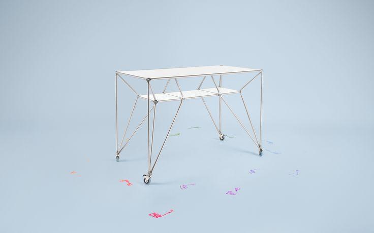Design Thinking Möbel - Table DT-Line T4 | Der Table DT-Line ist ein mobiler Steh-, Arbeits- und Besprechungstisch für Design Thinking Prozesse. Ausgezeichnet mit dem Focus Open in Silber.