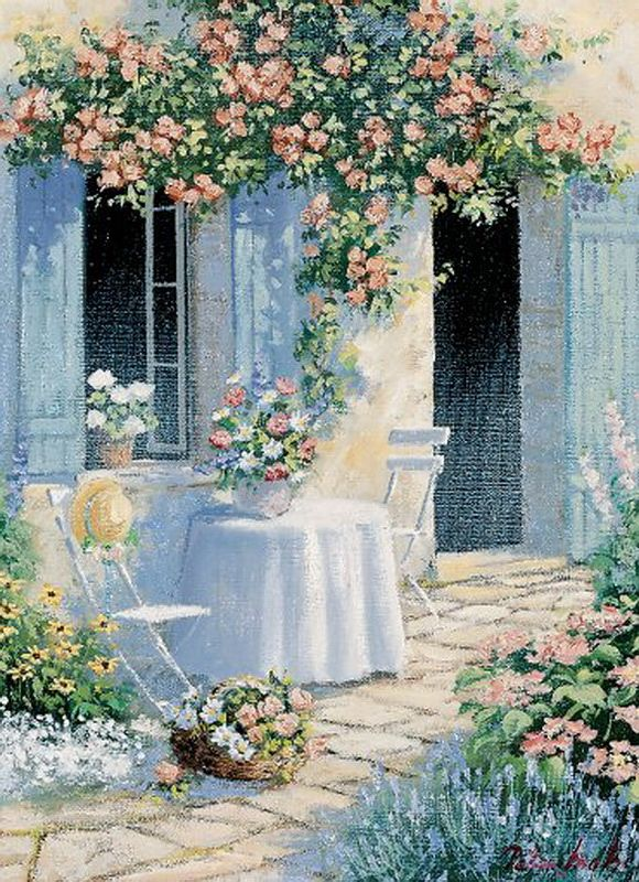 ✿Flowers at the window & door✿ Peter Motz
