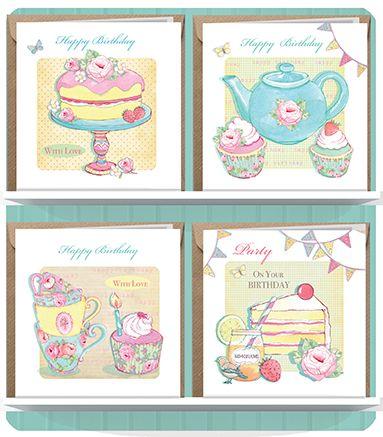 April Rose Illustration Greeting Cards Vintage Home Range.© Siobhan Harrison.