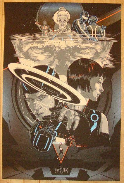 "2012 ""Tron: Legacy"" - Silkscreen Movie Poster by Martin Ansin"