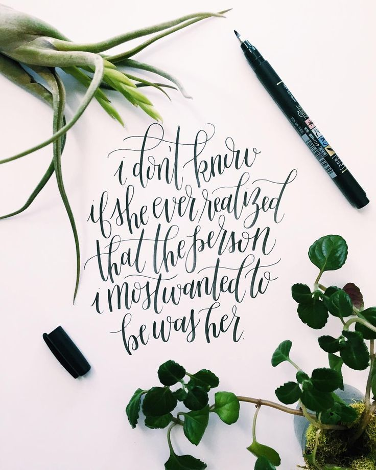 Beautiful lettering with the tombow fudenosuke pen