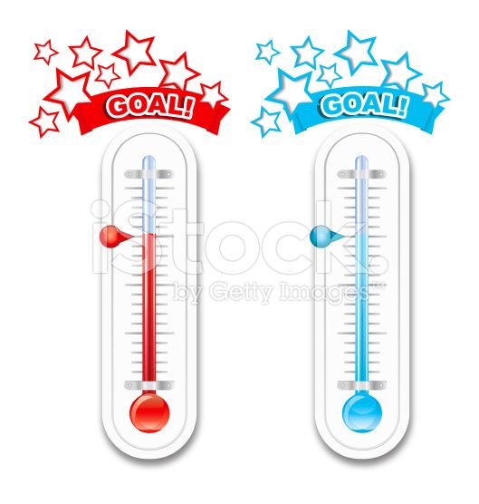 Fundraiser goal thermometers royalty free stock vector art for Free fundraiser thermometer template