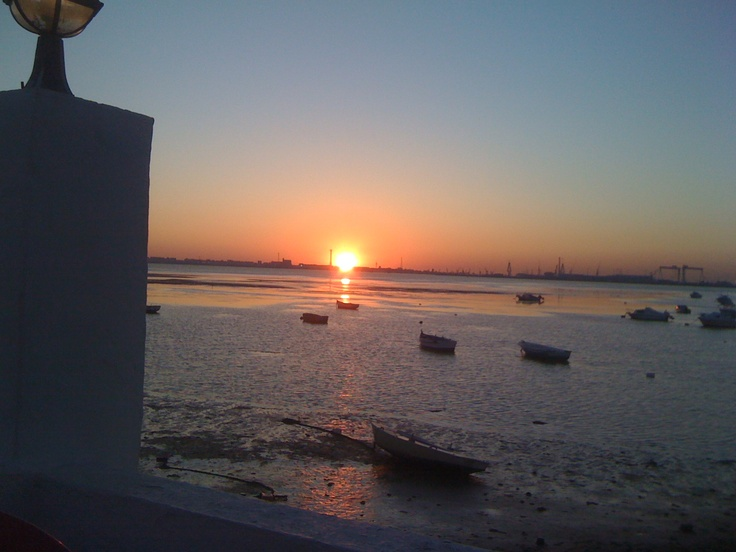 La Bahia de Cadiz desde San Fernando