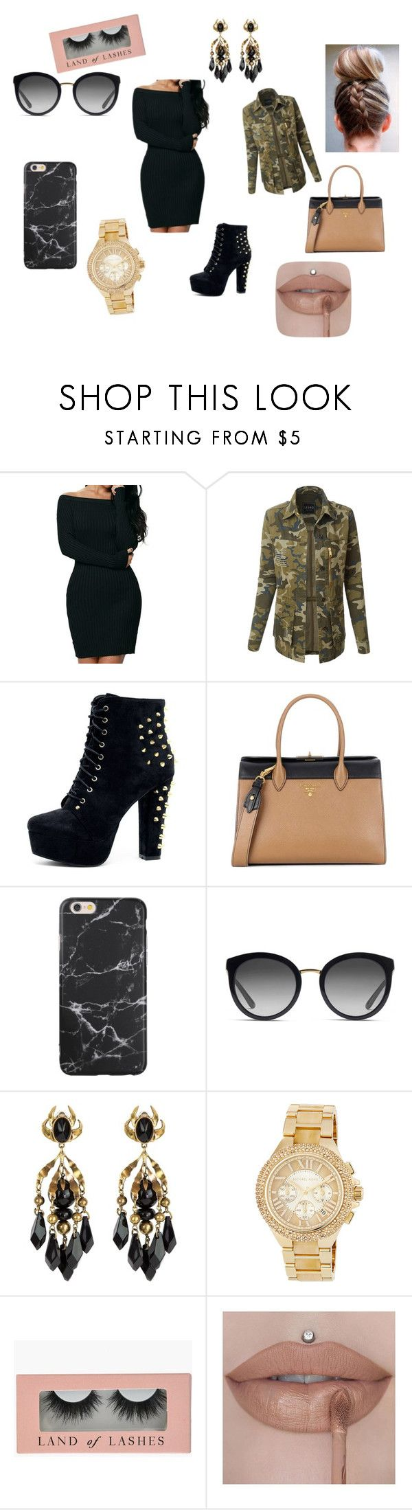 """""""Untitled #6"""" by vanessa-blomerus on Polyvore featuring LE3NO, Prada, Dolce&Gabbana, Gucci and MICHAEL Michael Kors"""