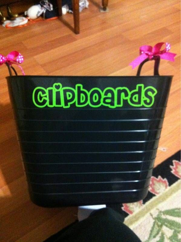 Teacher appreciation - along with clipboards! Finally Clipboard Storage that WORKS - from Target at about $6 maybe?