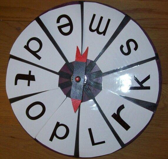 Met de carrousel draaien en maak een woord met de eerste, laatste letter. De letters kunnen gewisseld worden
