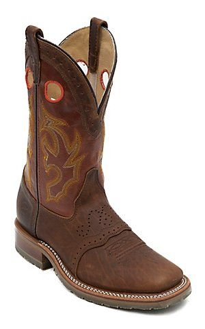 Double H ICE Collection Men's Peanut Bison Square Steel Toe Roper Work Boot